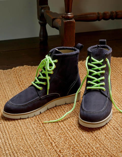 Seam Detail Lace-up Boots
