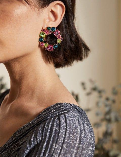Jewelled Hoop Earrings