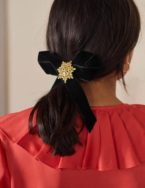 Haarclip mit Samtschleife