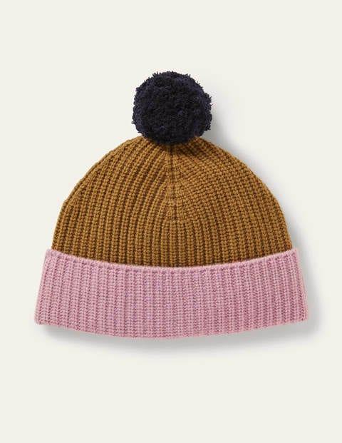Colourblock Cashmere Hat