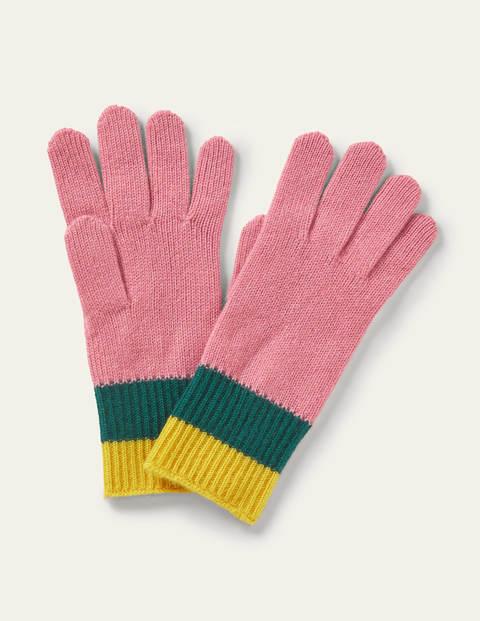 Colourblock Cashmere Gloves