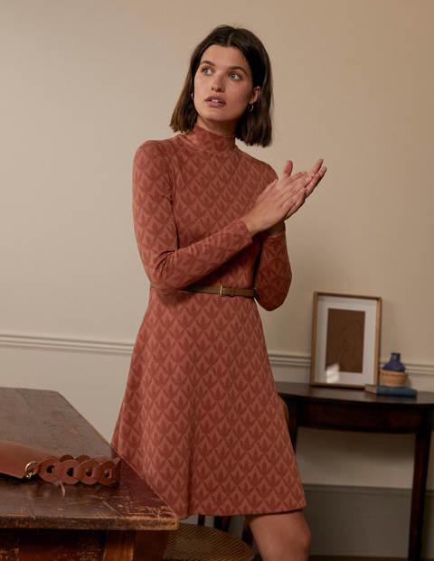 Jacquard-Kleid mit Stehkragen