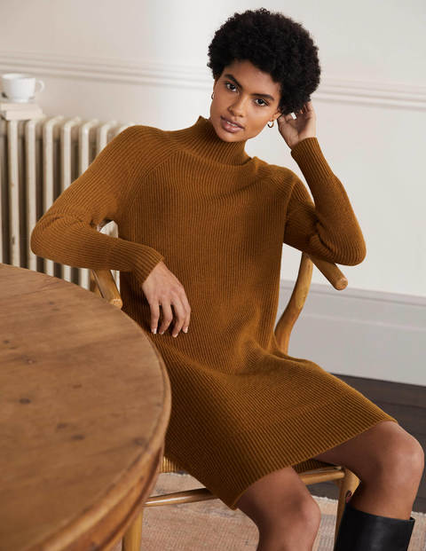 High Neck Knitted Dress