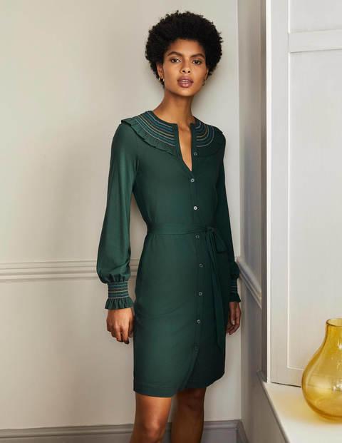 Smocked Detail Jersey Dress
