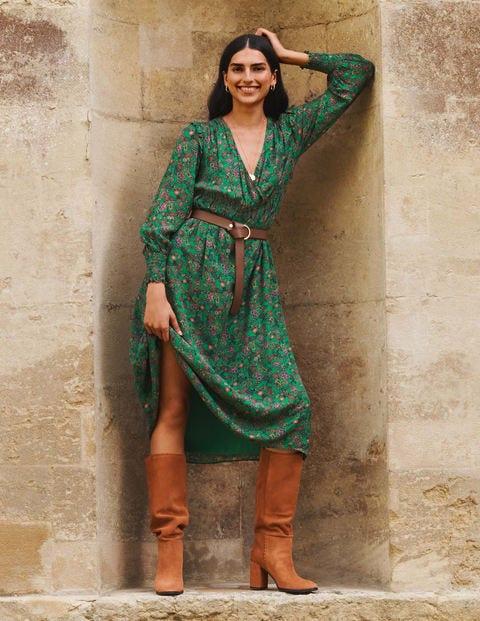 Becky Midi Wrap Dress
