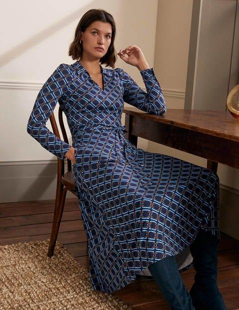 Collar Jersey Midi Dress