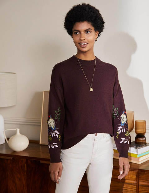 Relaxed Embroidered Jumper