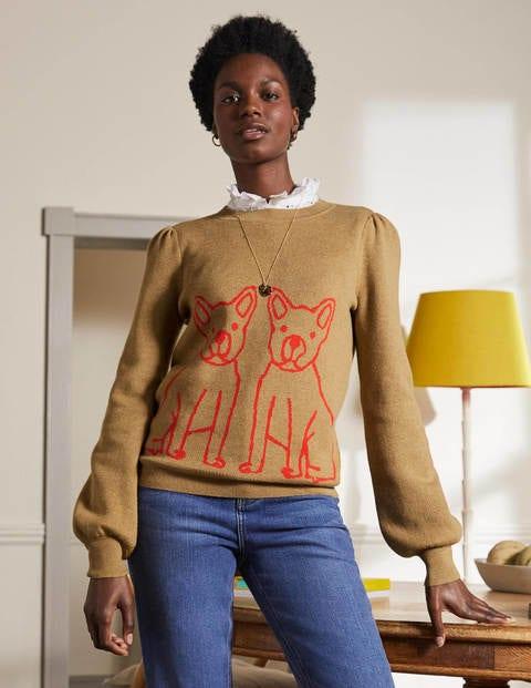 Matilda Blouson Sleeve Jumper - Camel Melange, Bulldog