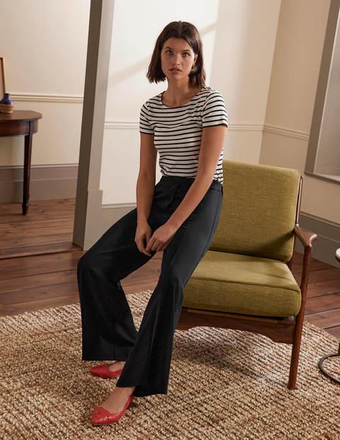 Albemarle Wide Leg Trousers - Black