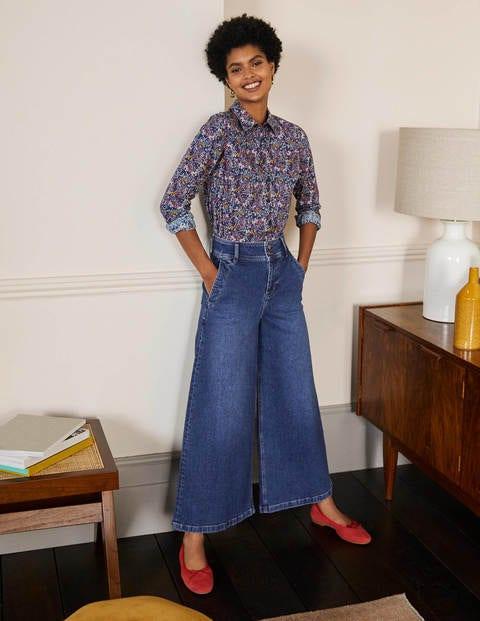 Wide Leg Denim Culottes