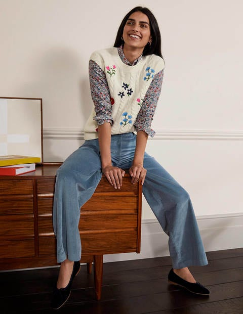 Alexia Cord Trousers - Airforce