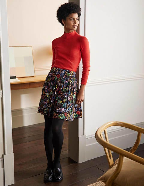 Victoria Pleated Skirt - Black, Wild Dandelion