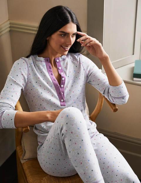 Ribbed Henley Pyjama Top