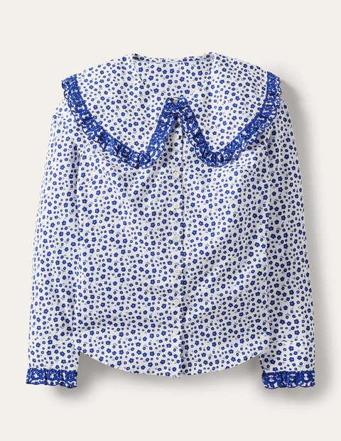 Statement Collar Cotton Shirt