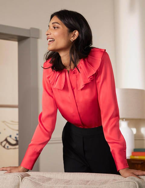 Pleated Collar Boxy Top