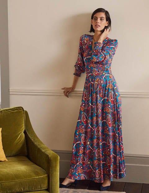 Jersey Maxi Wrap Dress