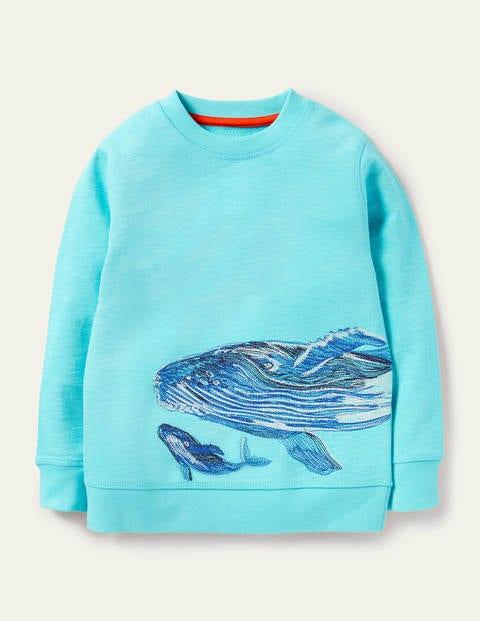 Sweatshirt mit Superstitch-Walmotiv