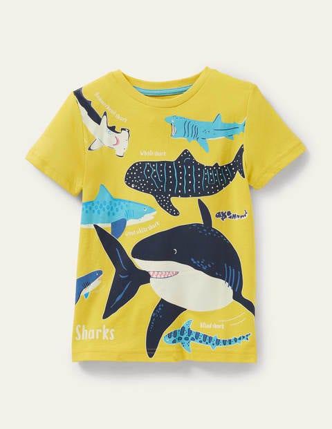 Im Dunkeln leuchtendes Ozean-T-Shirt