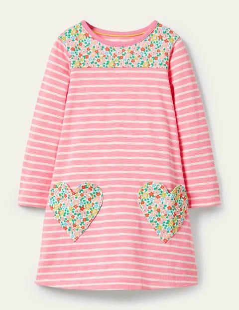 Fröhliches Jerseykleid mit Tasche