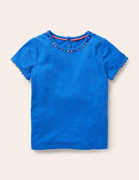 Charlie Pom Jersey T-shirt - Brilliant Blue