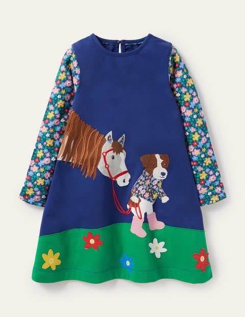 Langärmliges Kleid mit Applikation