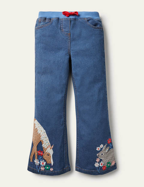 Jeans mit Tierapplikation