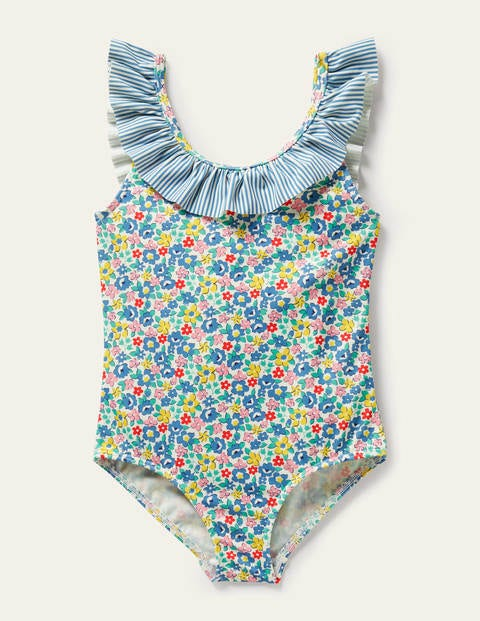 Frill Collared Swimsuit