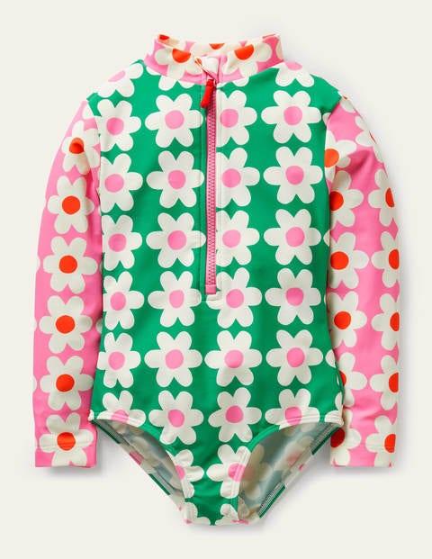 Long-sleeved Printed Swimsuit