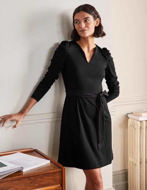 A-Linien-Kleid mit Puffärmeln