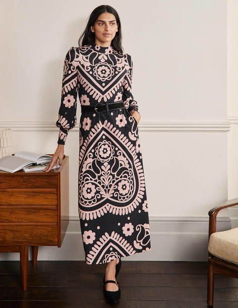 Cuffed Ponte Midi Dress