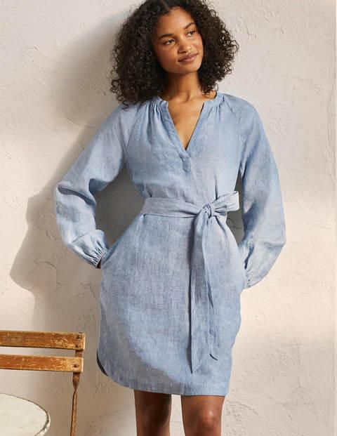 Notch Neck Linen Tunic