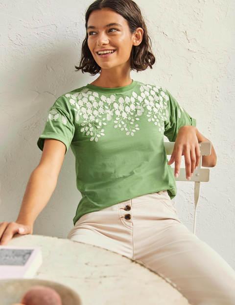 Turn Up Cuff Cotton T-Shirt
