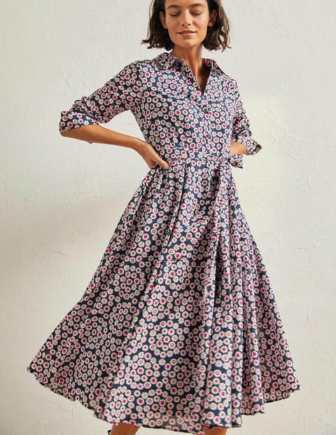 Cotton Midi Shirt Dress