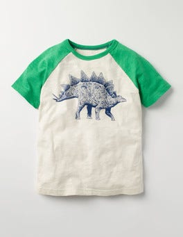 Mini Ecru Graphic Raglan T-shirt