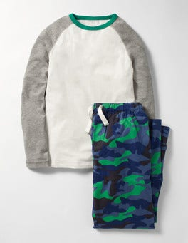 Space Blue Camo Pyjama Set