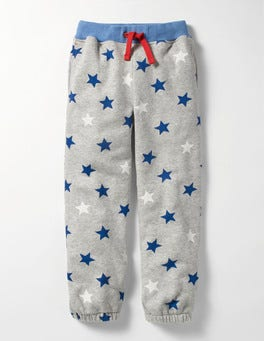 Grey Marl Star Fun Track Pants