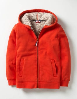 Ziggy Red Borg-lined Zip-up Hoodie