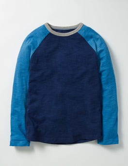 Space Blue Raglan T-shirt