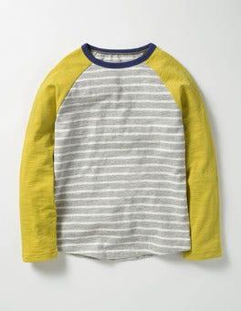 Grey Marl/Ecru Raglan T-shirt