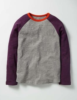 Grey Marl Raglan T-shirt