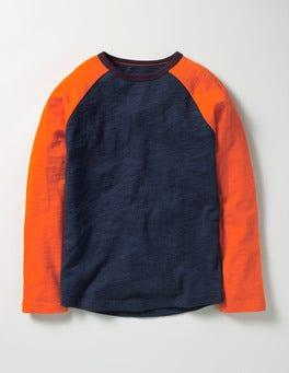 Navy Marl Raglan T-shirt