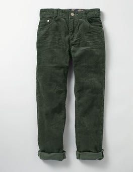Regiment Green Slim Cord Jeans