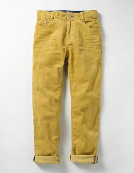 Sunshine Yellow Slim Cord Jeans