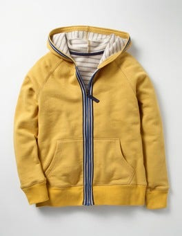 Sunshine Yellow Essential Zip-up Hoodie