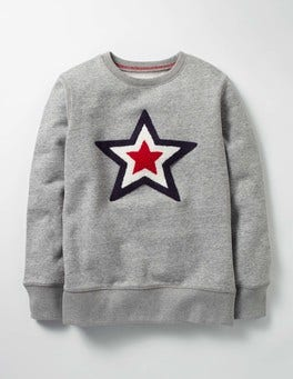 Grey Marl Star Superstar Bouclé Sweatshirt