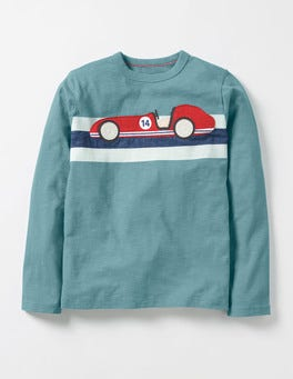 Ocean Scene Blue Car Sporty Vehicle T-shirt