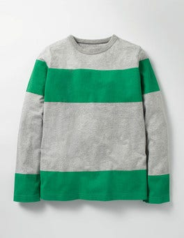 Grey Marl/Astro Green Slub Stripe T-shirt