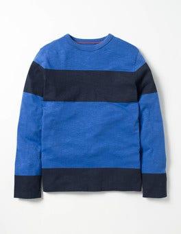 Gymnasium Blue/Navy Slub Stripe T-shirt
