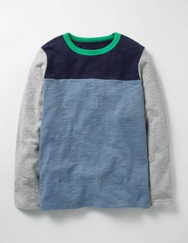 Horizon Blue Sporty Colourblock T-shirt