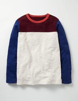 Ecru Sporty Colourblock T-shirt